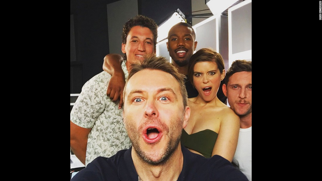 "Television host Chris Hardwick takes a photo with the cast of the latest ""Fantastic Four"" movie on Sunday, July 12. Behind Hardwick, from left, are Miles Teller, Michael B. Jordan, Kate Mara and Jamie Bell. ""Fantastic FIVE dammit,"" <a href=""https://instagram.com/p/5BinY7JGtM/"" target=""_blank"">Hardwick wrote on Instagram.</a>"