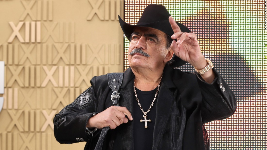 "Singer Joan Sebastian, shown here at the Latin Grammy Awards in 2012, <a href=""http://www.cnn.com/2015/07/14/entertainment/obit-joan-sebastian-mexican-singer/index.html"">died in July at age 64</a>."
