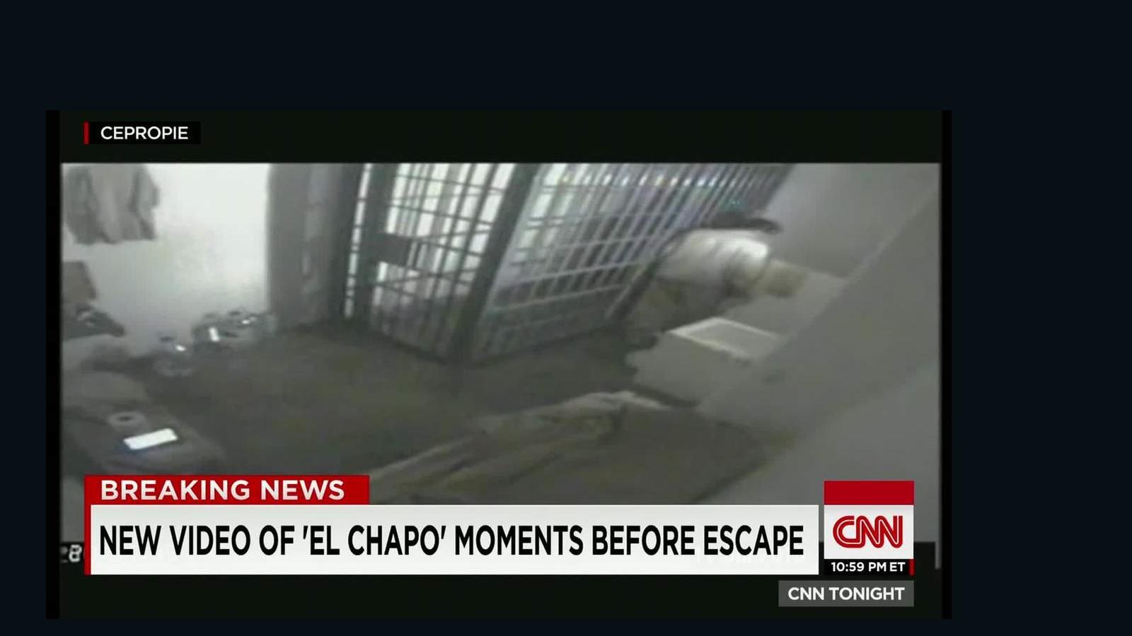 video released of  u0026 39 el chapo u0026 39  escaping