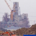The construction site of Shanghai Disneyland 1