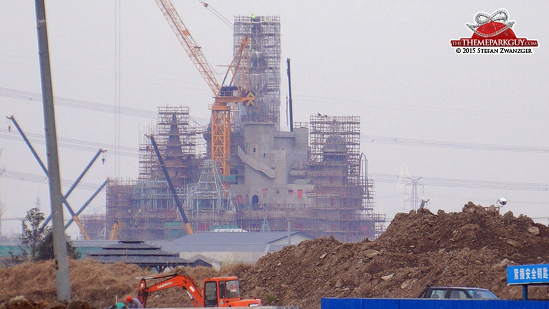 "This photo from January 2015 of the Shanghai Disneyland construction site  taken by <a href=""http://www.thethemeparkguy.com/park/shanghai-disneyland/photos/"" target=""_blank"">Stefan Zwanzger, AKA the Theme Park Guy</a>, shows the scale of building work on the site."