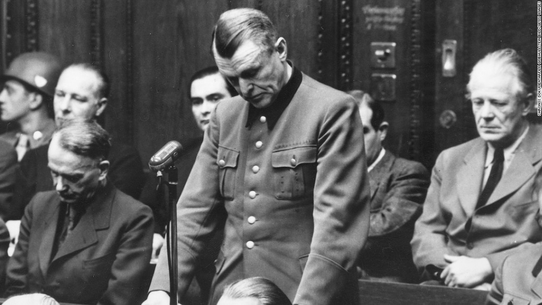 One of the Nazi regime's top military doctors was Karl Genzken, a leading defendant at the second round of Nuremberg Trials, which took place from 1946 to 1949 and resulted in scores of convictions of bureaucrats, soldiers, physicians, judges and industrialists for crimes committed under the Third Reich. Genzken was found guilty of experimenting on people using poisons and incendiary bombs and was sentenced to life in prison. Other doctors, such as the notorious Josef Mengele, committed inhumane medical experiments on Auschwitz prisoners. Mengele was never caught or tried.