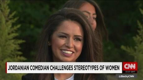 exp Ghada Saba, Jordanian Filmmaker, talks to Becky Anderson.  _00002001
