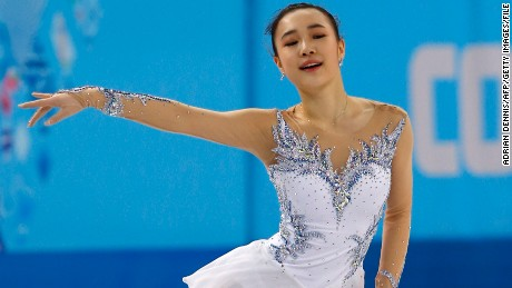 South Korea's Park So-Youn performs in the Women's Figure Skating Short Program at the Iceberg Skating Palace during the Sochi Winter Olympics on February 19, 2014. AFP PHOTO / ADRIAN DENNIS (Photo credit should read ADRIAN DENNIS/AFP/Getty Images