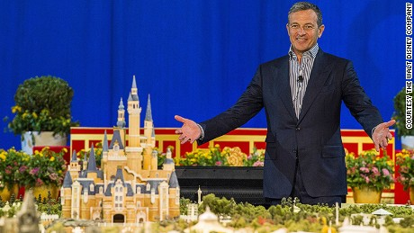 Bob Iger reveals the designs for the upcoming Shanghai Disneyland.