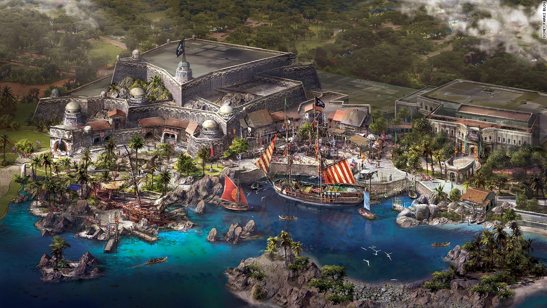 "Walt Disney's cast of beloved characters arrives in mainland China for the first time on June 16 with the opening of Shanghai Disneyland. It will feature six themed zones, including Treasure Cove, pictured, which draws inspiration from the ""Pirates of the Caribbean"" franchise."