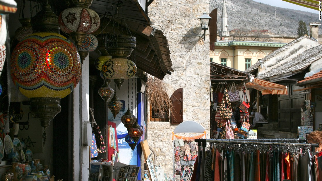 Fully-caffeinated, visitors will want to explore the bustling markets where Bosnians and Herzegovinans show off traditional skills in jewelry, lace and copperwork.