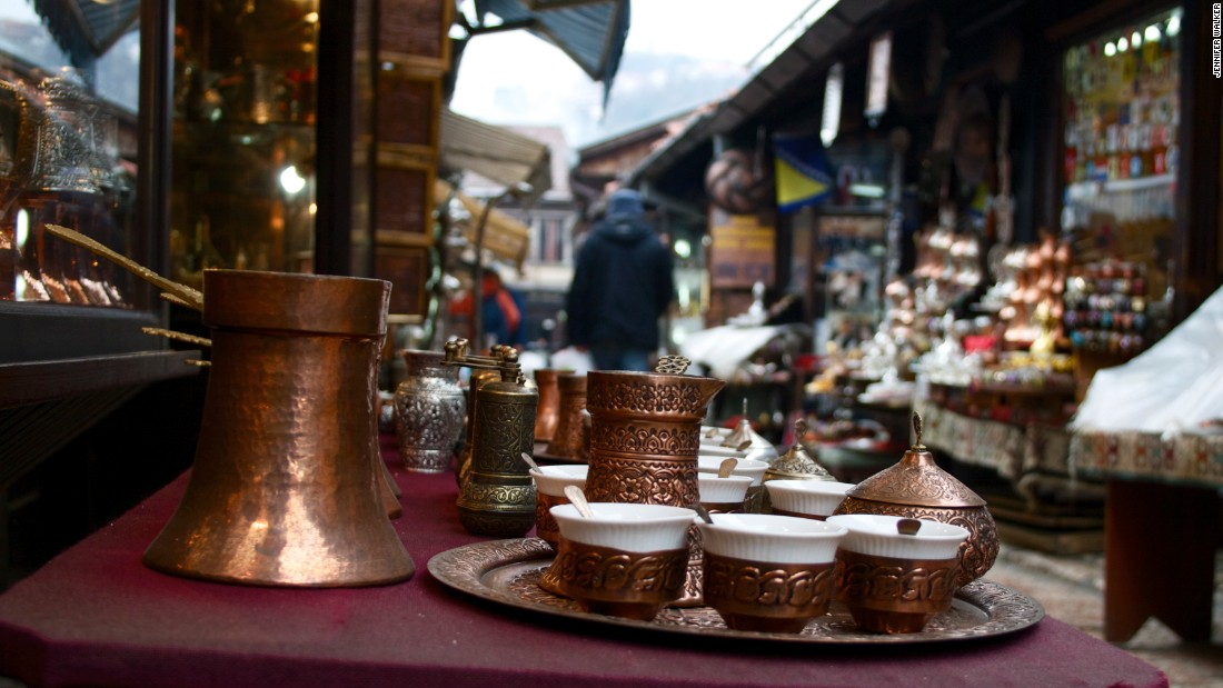 Coffee is ubiquitous -- just don't say it's the same as that served in Turkey. The preparation is, however, indebted to Ottoman traditions.