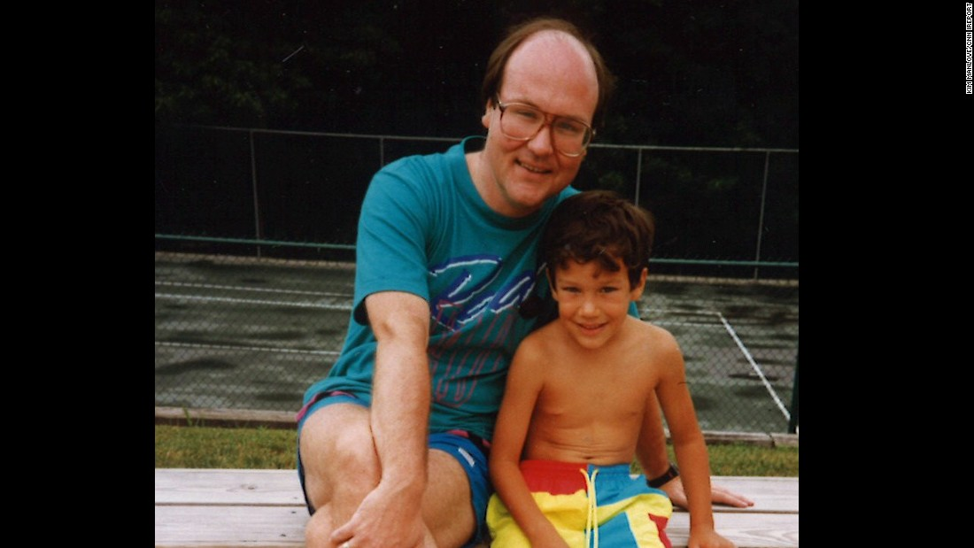A treasured memory: Kim Manlove and his son, David, in the late 1980s. David died in 2001 at the age of 16, in a drug-related drowning.