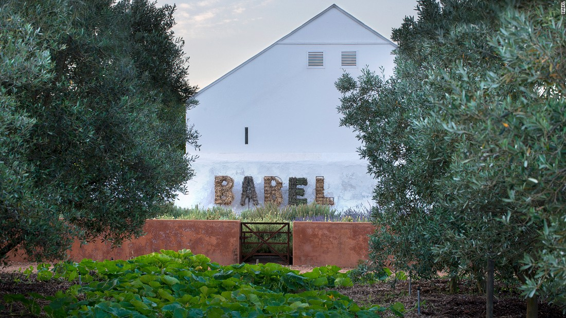 Babylonstoren is right to evoke its rich heritage with its restaurant Babel. The manor house itself is from 1777 and is typical of an early Cape Dutch farm.