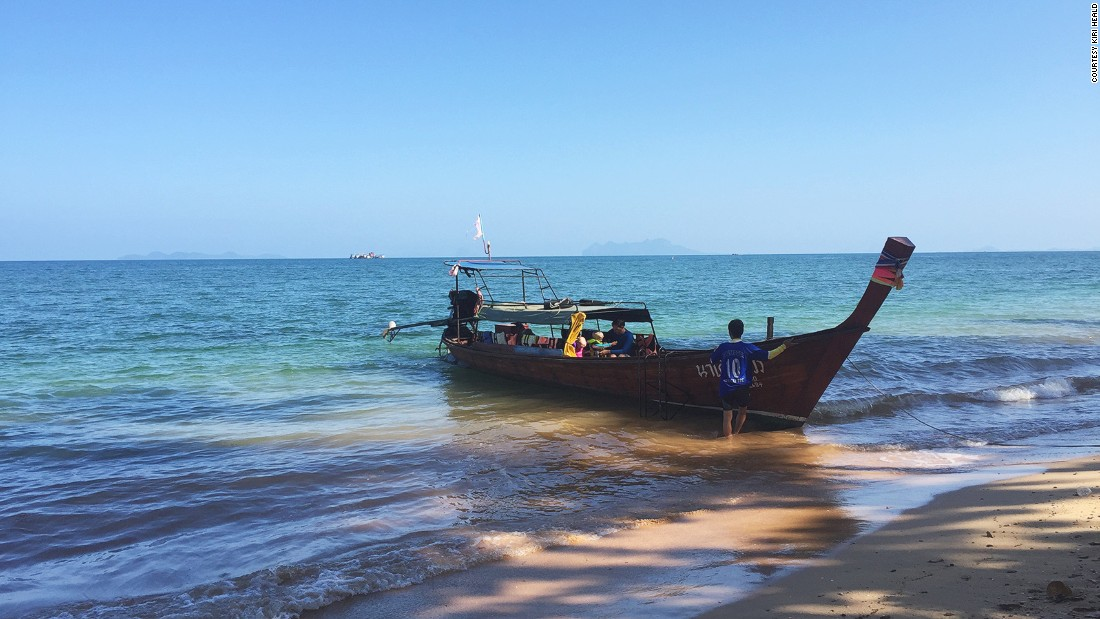 Longtail boats can be hired for dugong watching tours and cost about $35 for three hours.
