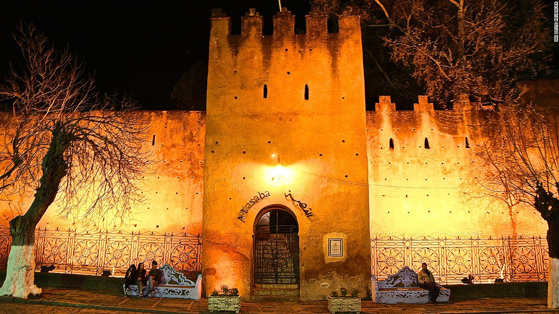 The Kasbah, or fortress of Chaouen, was built by Moulay Ali Ben Rachid in the late 17th century as a final line of defense against attacks by Berber tribesmen as well as Portuguese and Spaniard invaders. Visitors are charged 10 dirham ($1) to enter the Moorish fortress, stroll through its tropical garden, visit a small museum and climb the medieval watchtower to observe life in Uta el-Hammam Square. It's filled with tourist crowds at weekends as coaches arrive from the port of Tangier. But on Monday morning, visitors depart in droves and the beautiful blue city regains its pious Islamic character.
