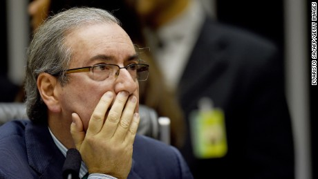 Eduardo Cunha launched a bid to impeach Rousseff in December.