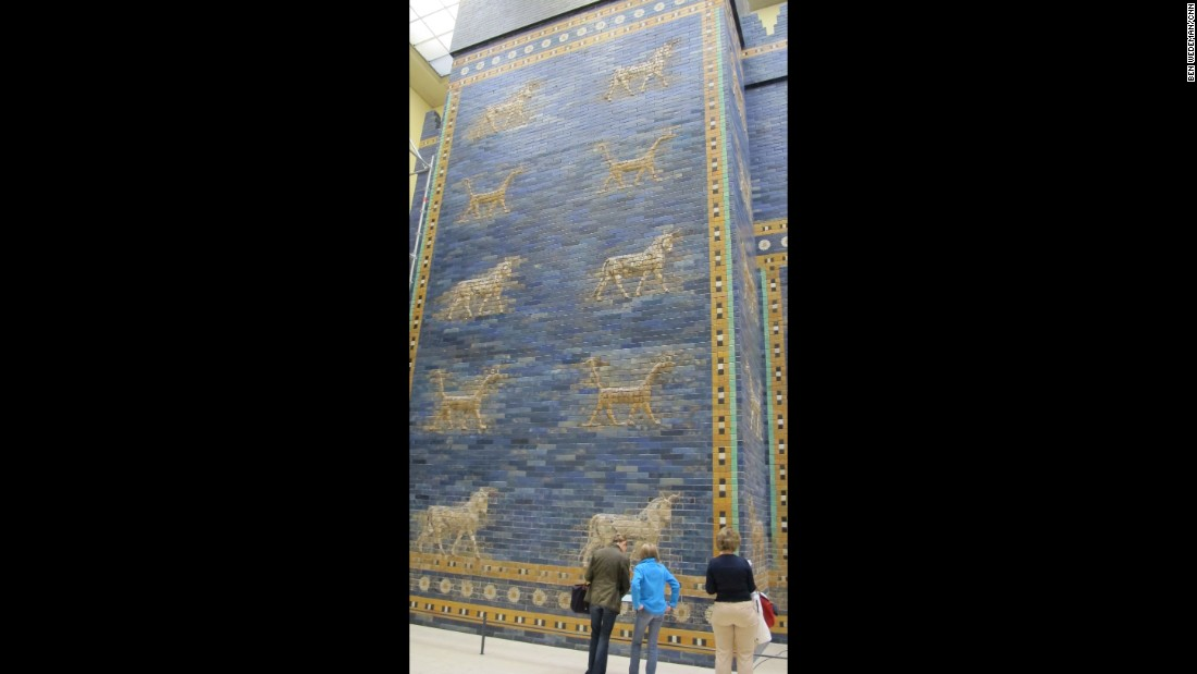 The fragments of Babylon's Ishtar Gate were later reassembled. The artifact is now on display at the Pergamon Museum in Berlin. Babylon, south of Baghdad, is under Iraqi government control.