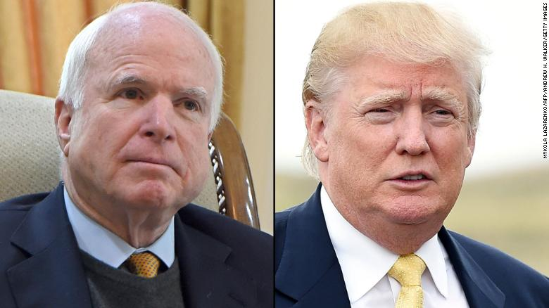McCain at odds with Trump over Russia