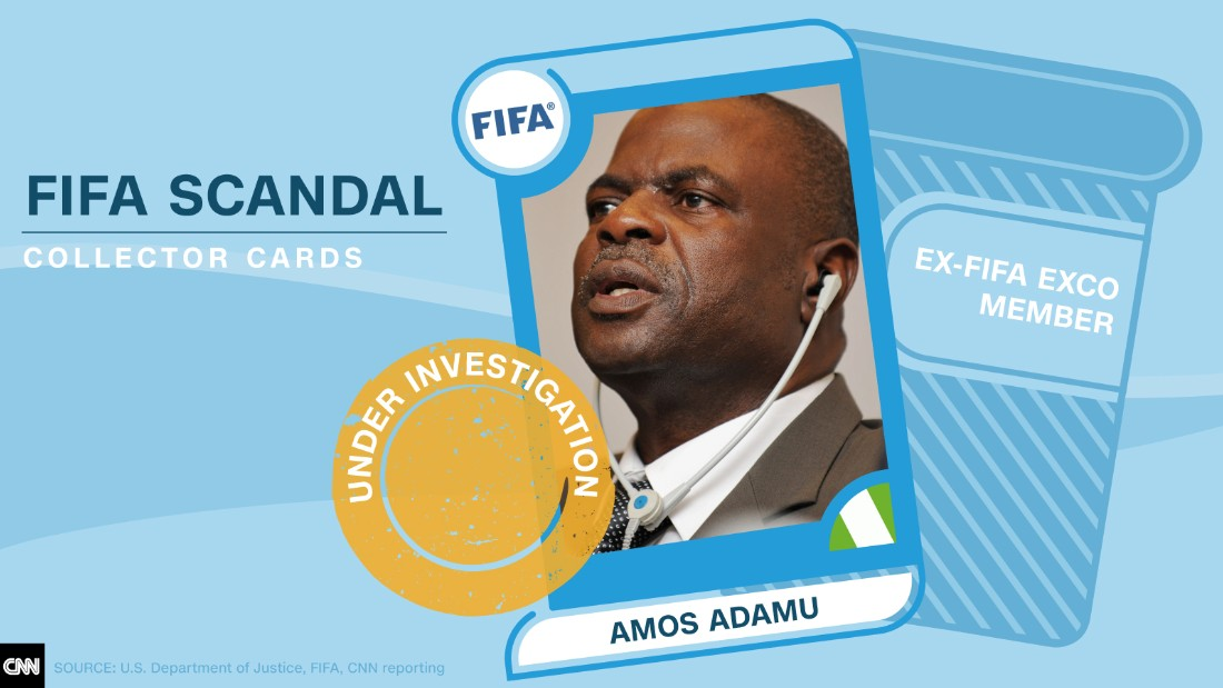 FIFA scandal collector cards Amos Adamu