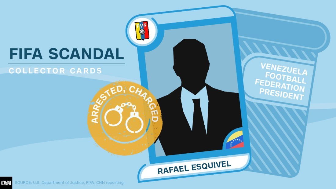 FIFA scandal collector cards Rafael Esquivel