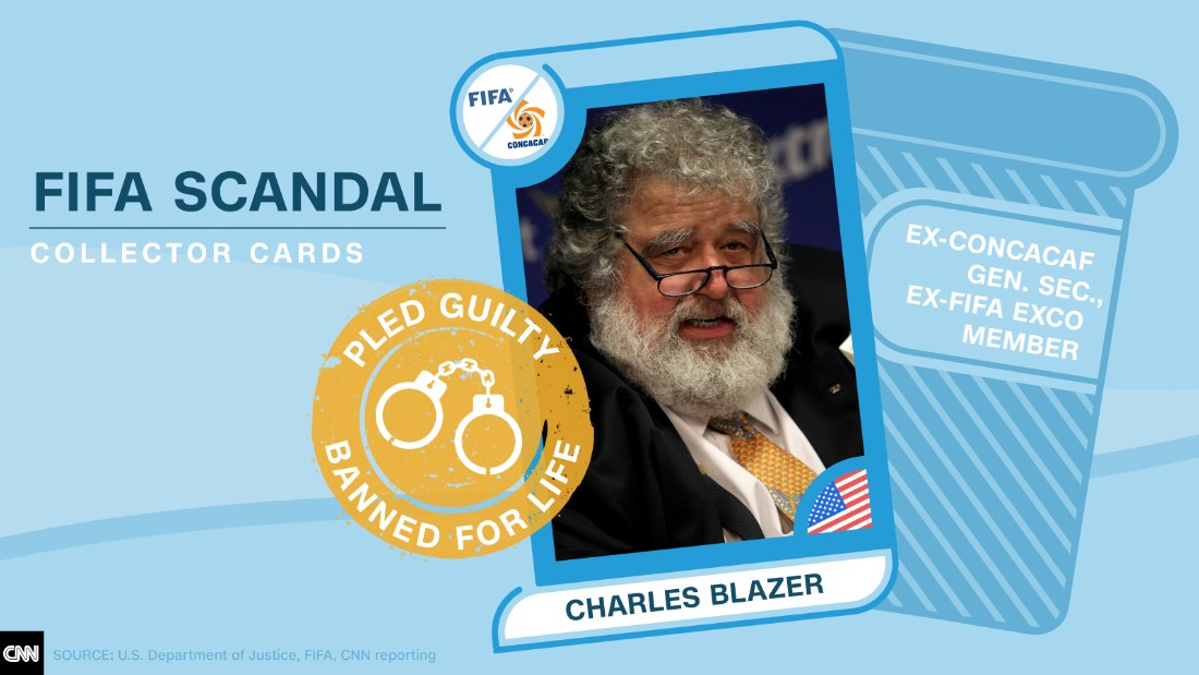 FIFA scandal collector cards Charles Blazer