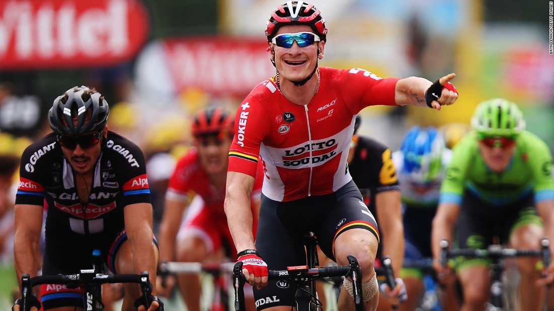 "Andre Greipel celebrates after winning the 15th stage of the Tour de France on Sunday, July 19. <a href=""http://www.cnn.com/2015/07/14/sport/gallery/what-a-shot-sports-0714/index.html"" target=""_blank"">See 41 amazing sports photos from last week </a>"