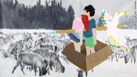 Tess Dumon first explored her relationship with her brother through painting.