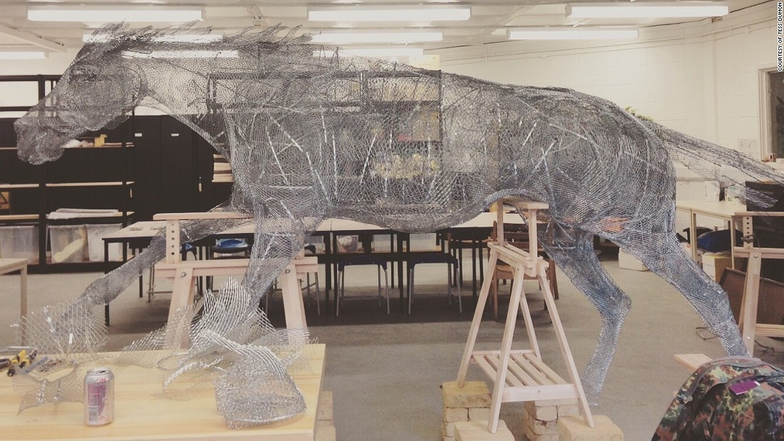 Her latest equine-related work was commissioned by Ascot Racecourse, which wanted a bold sculpture for the King George VI meeting on July 24-25.
