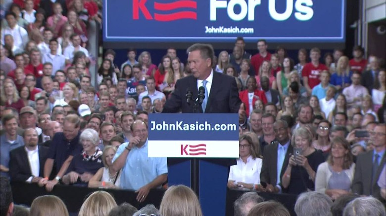 Kasich rallies supporters around presidential announcement