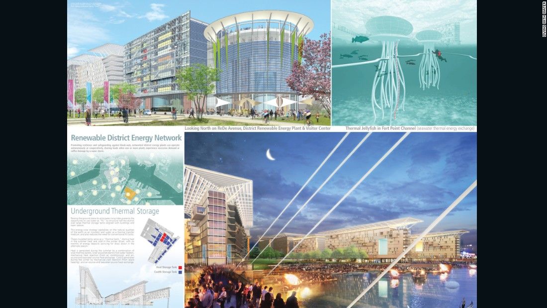 Boston could be underwater by 2100, so 'Living with water' competition seeks to re-imagine the city for a new age.