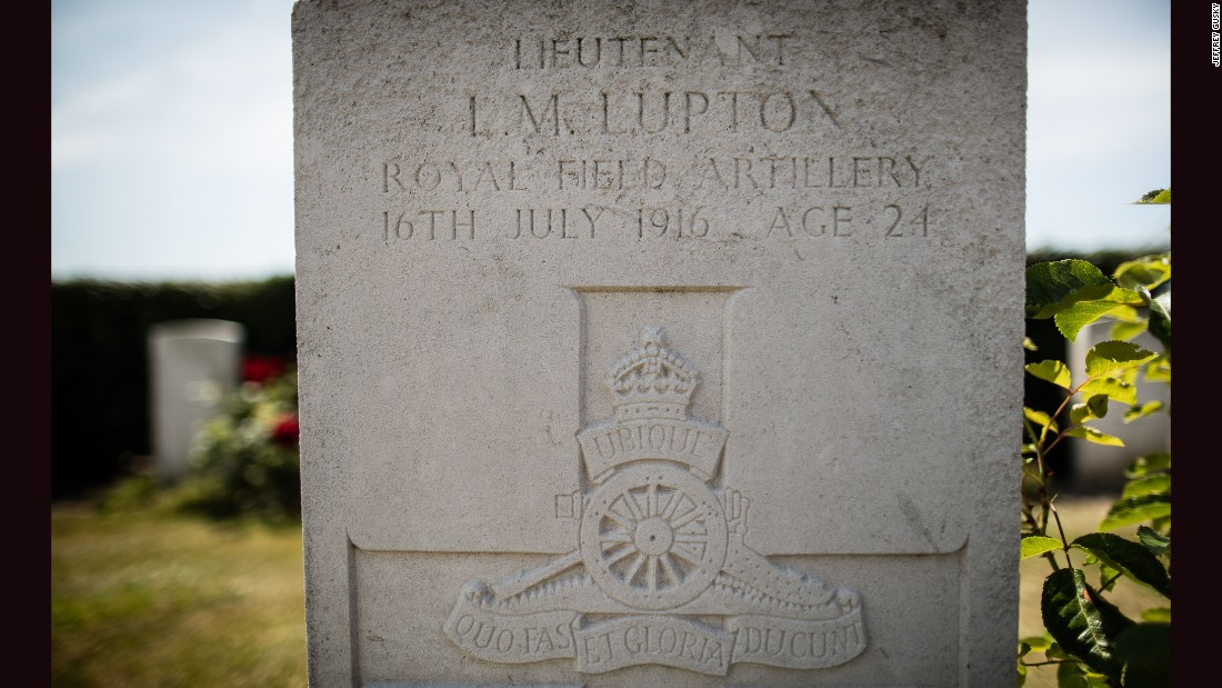 Among the cemetery markers: One for Lionel Lupton, an ancestor of Kate Middleton, the Duchess of Cambridge.