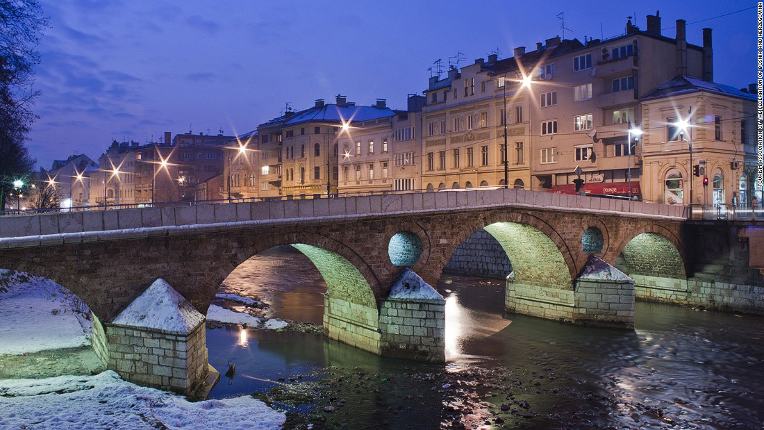 Sarajevo's Latin Bridge was famously the site of Franz Ferdinand's assassination in 1914: an event which triggered the outbreak of World War I.