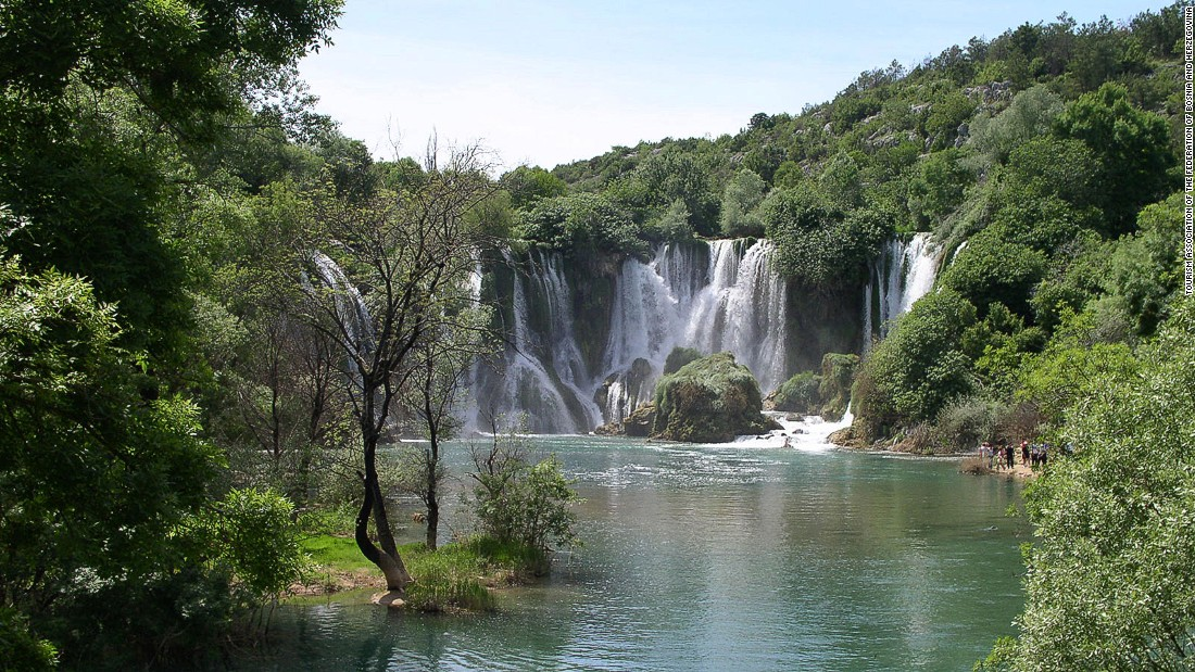 A short day trip from Mostar, Kravice waterfall on the Trebizat River is a great place for swimming, picnicking and camping.