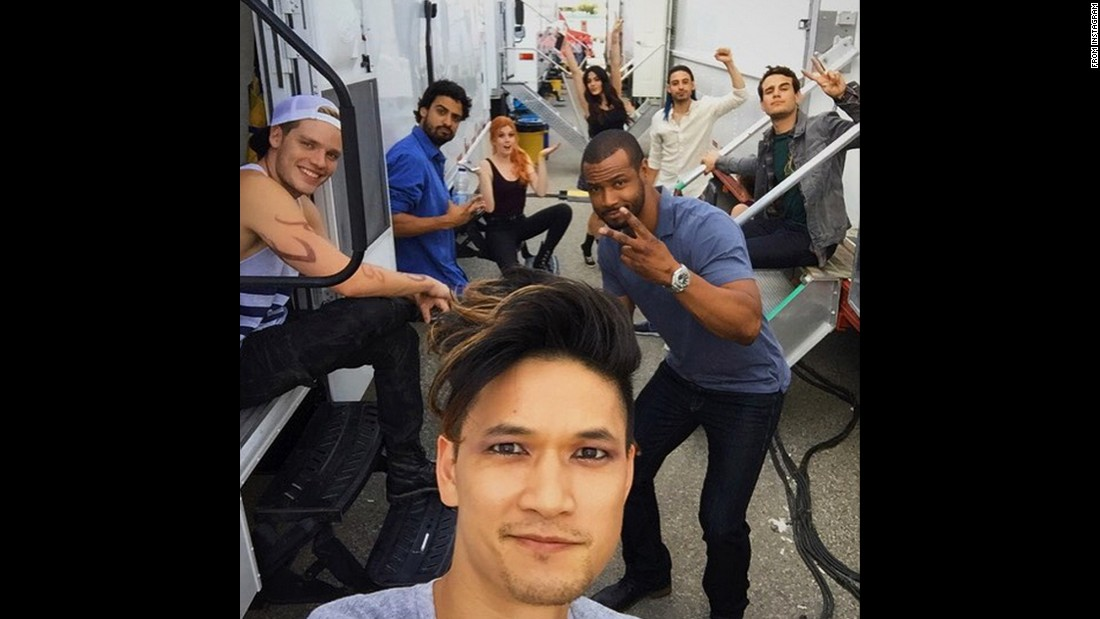 """Trailer park good times,"" said actor Harry Shum Jr. in this selfie <a href=""https://instagram.com/p/5PswfBHEsl/"" target=""_blank"">he posted to Instagram</a> on Friday, July 17. Behind Shum are some of his co-stars from the upcoming television series ""Shadowhunters."""