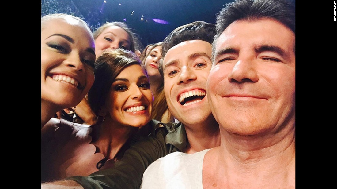 "Singer Rita Ora, far left, takes a selfie with other judges from the UK version of ""The X-Factor"" on Thursday, July 16. From right are Simon Cowell, Nick Grimshaw and Cheryl. ""This is by far the best Simon Cowell photograph of all time. Gotta love him,"" <a href=""https://instagram.com/p/5N0e1mxs0x/"" target=""_blank"">Ora said on Instagram.</a> ""Great auditions today London! See you tomorrow!"""