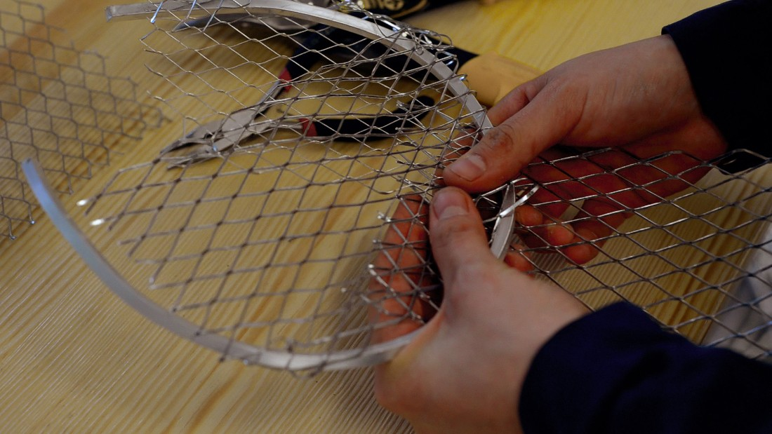 """What I like about the chicken wire is that you can see through it. There is a lightness, a transparency,"" Dumon adds."