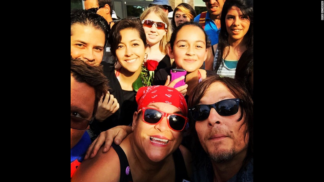 """Thank u guys for joining me for the make a wish organization,"" <a href=""https://instagram.com/p/5KuG4PMcNs/"" target=""_blank"">wrote actor Norman Reedus,</a> bottom right, on Wednesday, July 15."