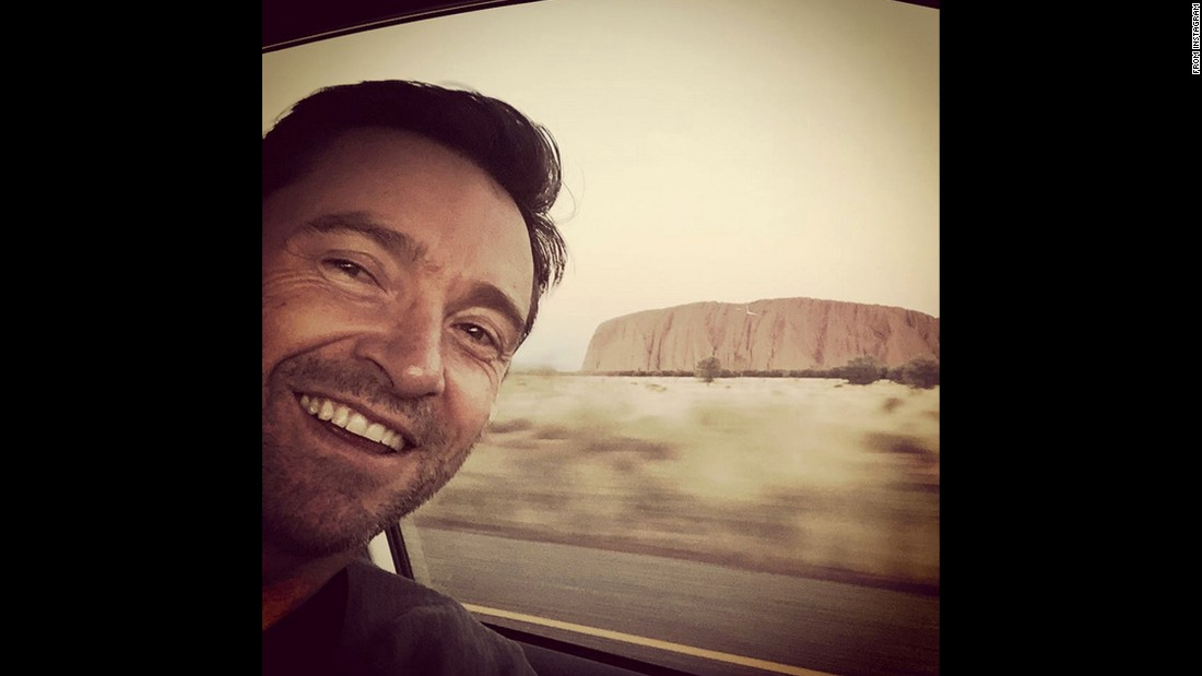 """Homeward bound,"" actor Hugh Jackman <a href=""https://instagram.com/p/5ZjxDGihJE/"" target=""_blank"">said on Instagram</a> on Tuesday, July 21. He had just visited Mutitjulu in Australia's Northern Territory."
