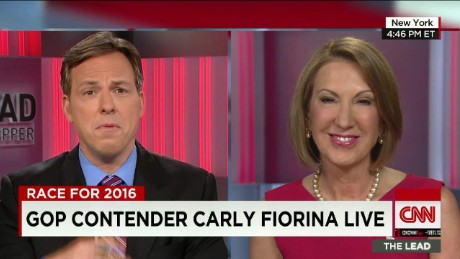 Tapper interviews Fiorina _00001919
