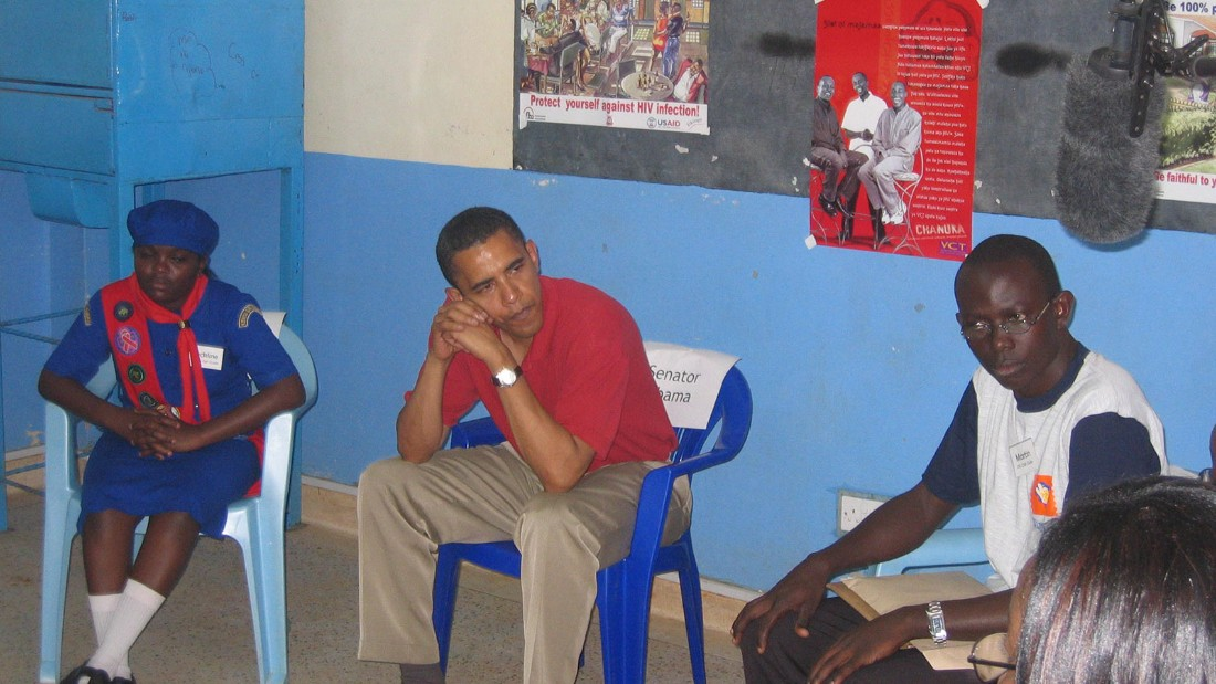 Five months before announcing his presidential bid, Obama sat in a Nairobi school and discussed the hopes and dreams of students.