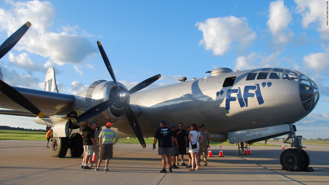 """FIFI"" is a World War II-era bomber that's billed as the only flying B-29 Superfortress."