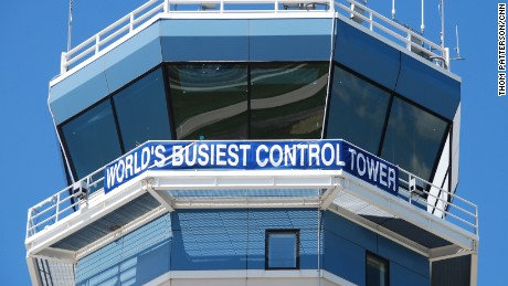 A banner on Oshkosh's air traffic control tower says it all.