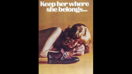 "This ad for Weyenberg Massagic shoes was featured in Playboy magazine and reprinted in the ""No Comment"" section of Ms. magazine in December 1974."