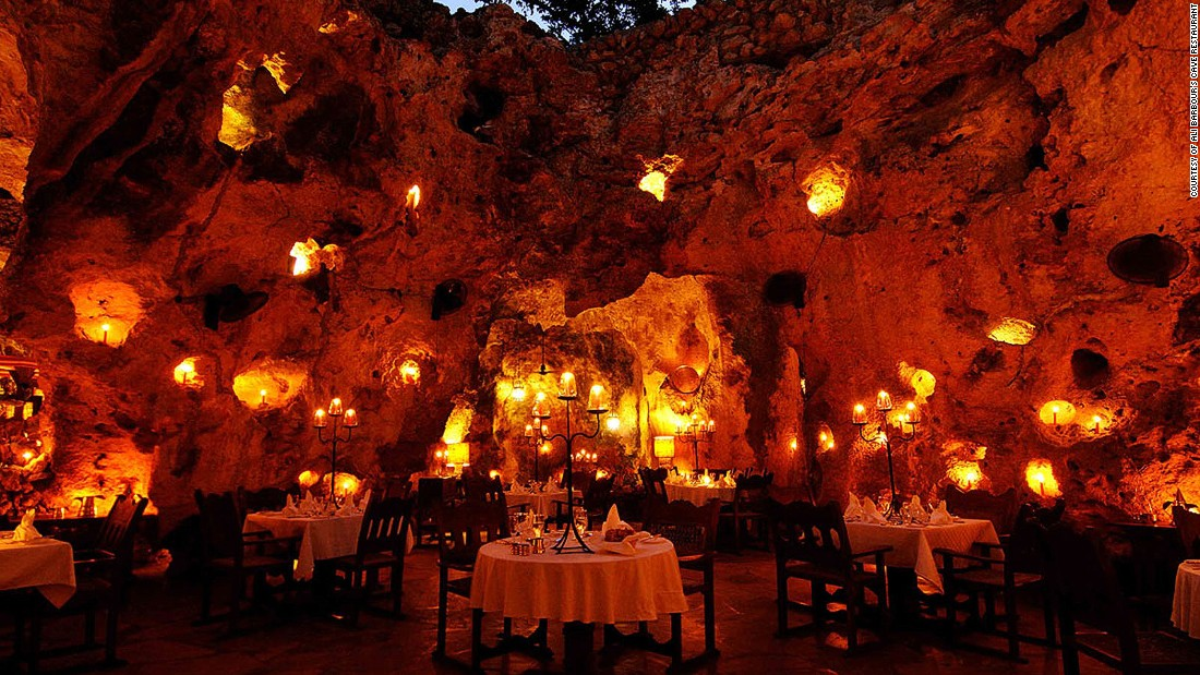 Ali Barbour's Cave Restaurant in Diani is in an open-air coral cave thought to be around 120,000 to 180,000 years old. If you're lucky, you might spot stars at the next table, as well as star-gazing through the roof.