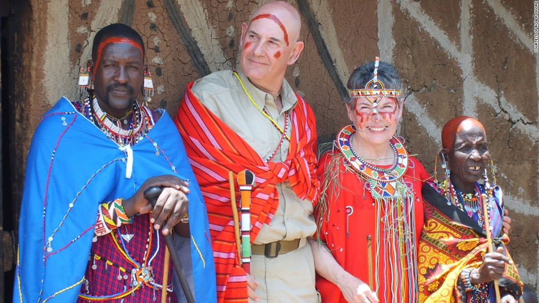 After 46 years of marriage, Roger and Laurie Moore remarried in a traditional Maasai ceremony, complete with dancing, singing and even a dowry.