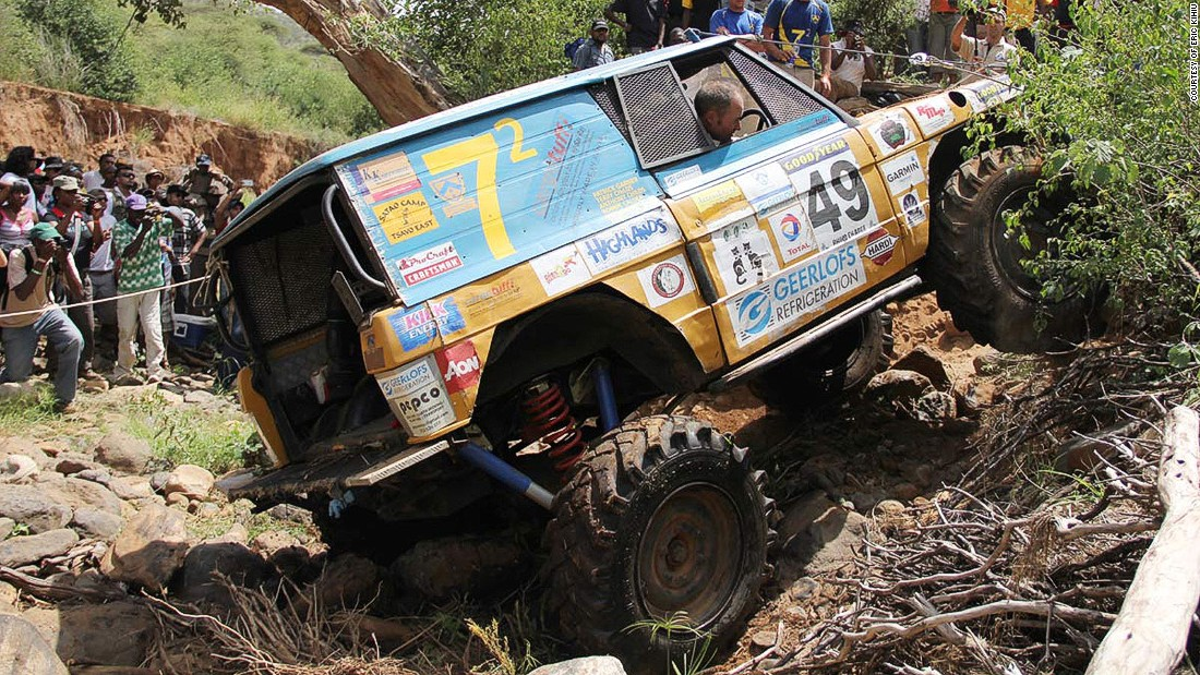 The precise location of the Rhino Charge, Kenya's annual off-road motor sport competition, is kept secret until a few days before the event. It covers one hundred square kilometers of wild terrain in ten hours.
