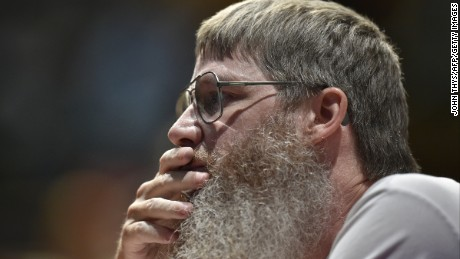 New Zealand's Nigel Richards, 48, competes in the Francophone Scrabble World Championships in Louvain-La-Neuve on July 21, 2015. Richards, already three time world champion in English Scrabble, won the Francophone Scrabble Championship on July 20 despite not speaking a word of French.
