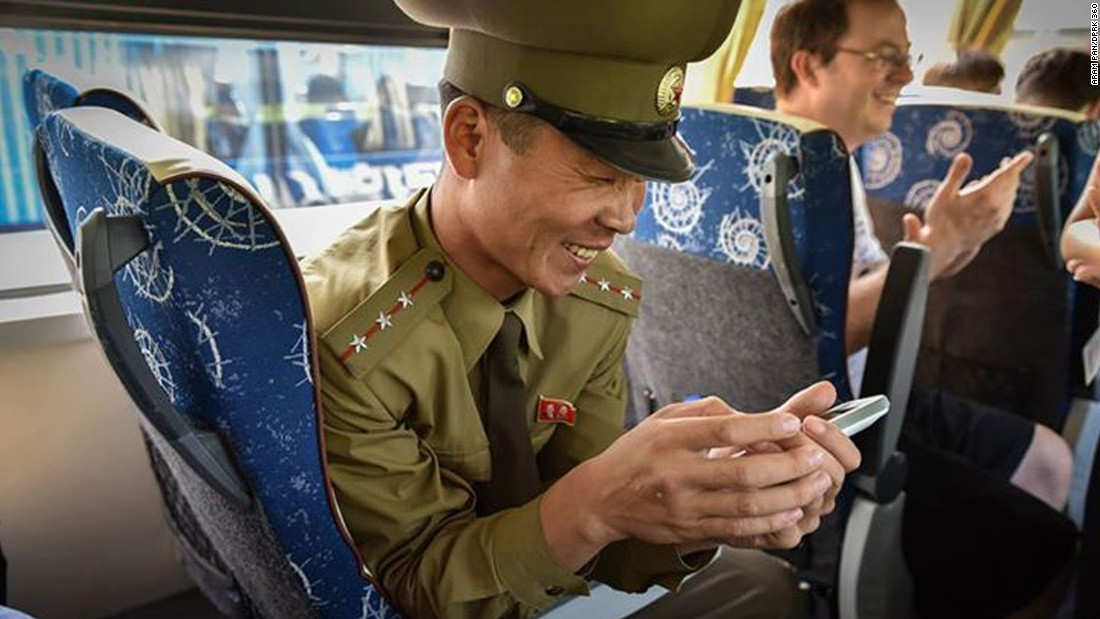 "After the visit, this senior lieutenant followed Pan up the bus and accompanied him all the way out from the area. ""All through the bus ride, he was playing with the 360 virtual tour,"" says Pan. ""<a href=""http://www.dprk360.com/360/pyongyang_aerial_view/"" target=""_blank"">This particular 360 was his favorite</a>.""<br />"