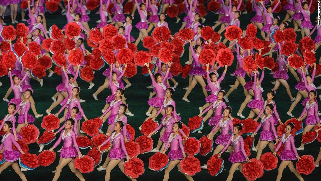 "The Arirang Mass Games -- an annual North Korean artistic festival -- were suspended in 2014 and 2015. Pan watched the <a href=""http://www.dprk360.com/360/arirang2013/"" target=""_blank"">Mass Games in 2013</a>."