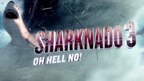 Actors Tara Reid and Ian Ziering on Sharknado 3