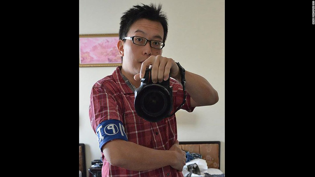 Pan is classified as a reporter when in North Korea and needs to wear a press armband while traveling in the country.