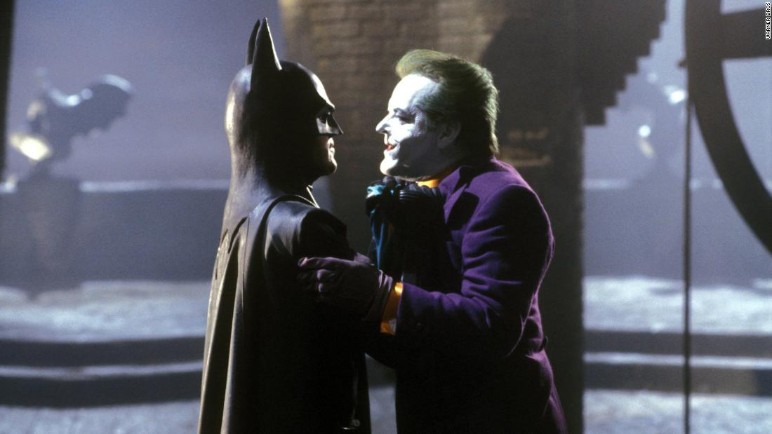 "In 1989's ""Batman"" Jack Nicholson's Joker faced Michael Keaton's caped crusader."