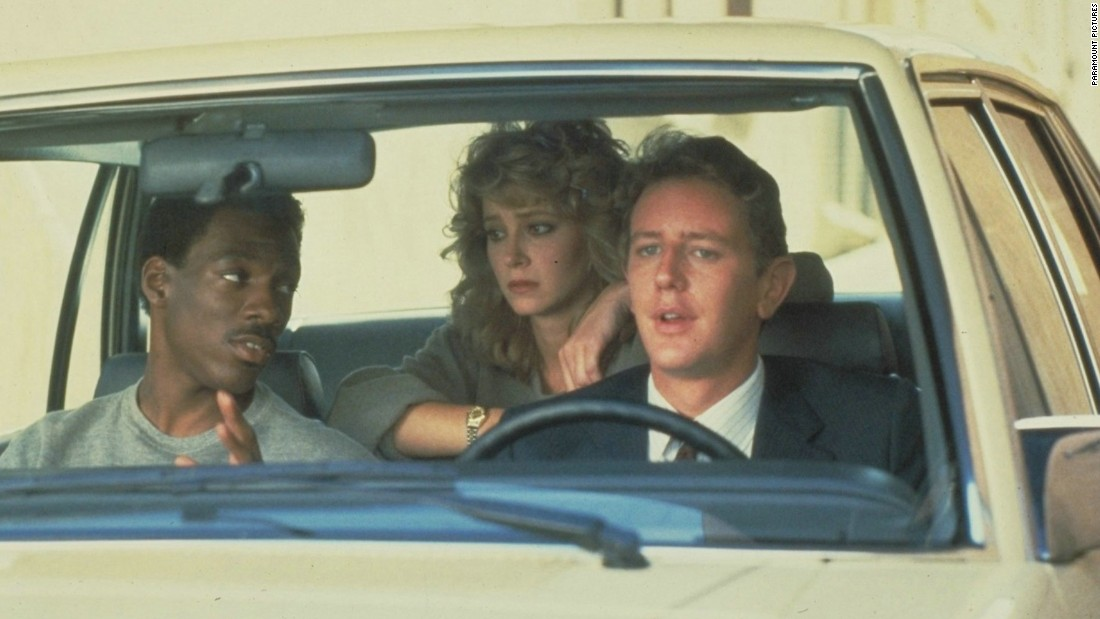 "A Detroit police officer investigating the murder of a friend ends up in Beverly Hills, where he confounds fellow cops on his way to solving the crime in 1984's ""Beverly Hills Cop."""